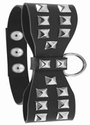 S&M Studded Bow Tie Collar