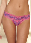 Crotchless Lace V-Thong: Purple S/M